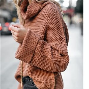 Free People NWT Park City Pullover in Terracotta